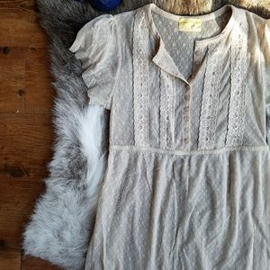 Free People | Shear Lace Baby Doll Top